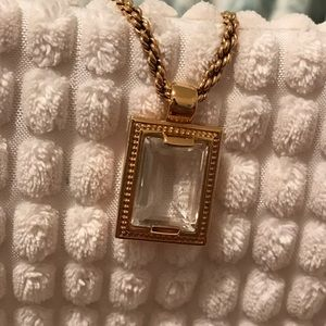 Jewelry - Fashion Necklace with Emerald Cut Pendant
